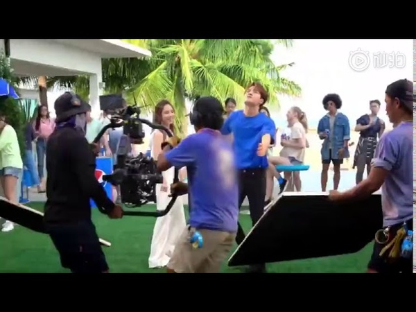 Jackson Wang (GOT7) and GEM-For the The Love It (Pepsi M/V) Shooting Highlights