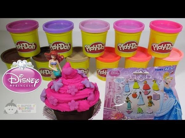 Play Doh DISNEY PRINCESS Cupcakes Blind Bag Surprise