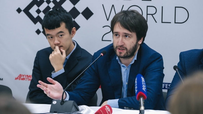 The final press conference of FIDE World Cup 2019 Teimour Radjabov Ding Liren