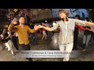 Salsa. Live. Mikhail Trofimchuk & Yana Velichkovskaya    NY fest. 2019