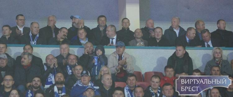 Виктор Лукашенко, Носкевич, Мошенский и другие. Кто смотрел из VIP-ложи матч «Динамо-Брест» — БАТЭ