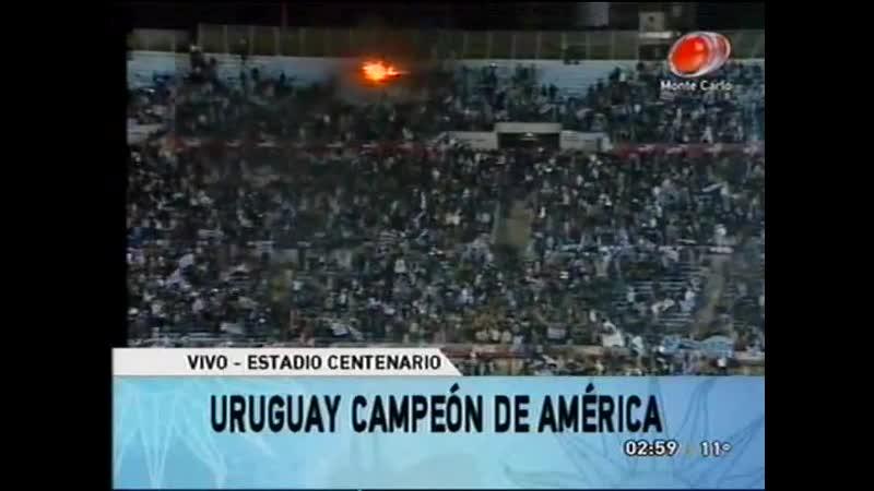 2011 - Uruguay - Campeón de América 2011 Estadio Centenario - Llegada de (PARTE1)