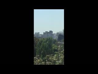 Под Одессой горит детский развлекательный центр