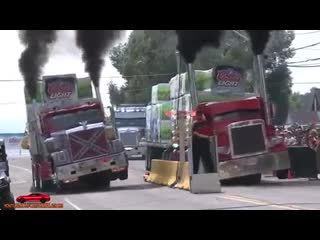 Trucks drag racing