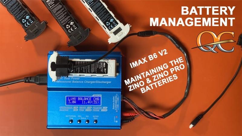 IMAX B6 V2 BALANCE CHARGER BATTERY MANAGEMENT USING HUBSAN ZINO BATTERIES