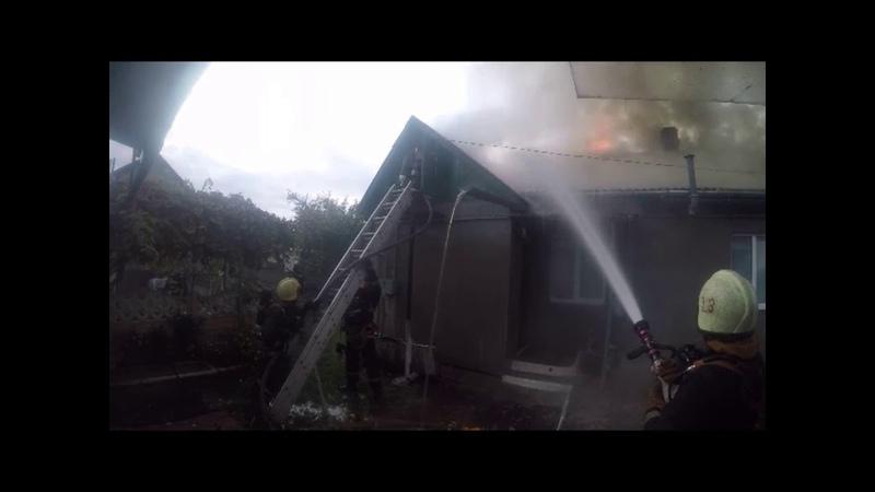 Барановичи Пожар в жилом доме