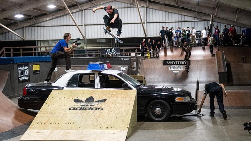Zumiez X Adidas Best Trick over a Cop Car Julian Christianson Mika Möller Woody Hoogendijk
