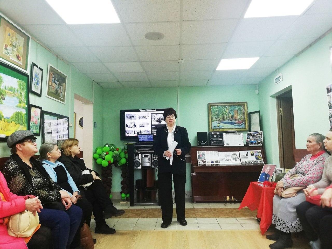Гости центра соцобслуживания Некрасовки прослушали лекцию о снятии блокады Ленинграда