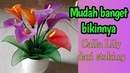 Bunga Calla Lily cantik dari to make Calla Lily Flower from stocking. diy