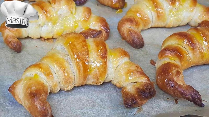 Croissants de hojaldre SIN LEVADURA Y SIN AZUCAR ademas hago la masa de hojaldre casera