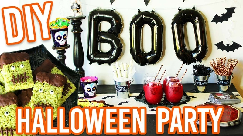 EASY DIY HALLOWEEN PARTY Treats Decorations and MORE