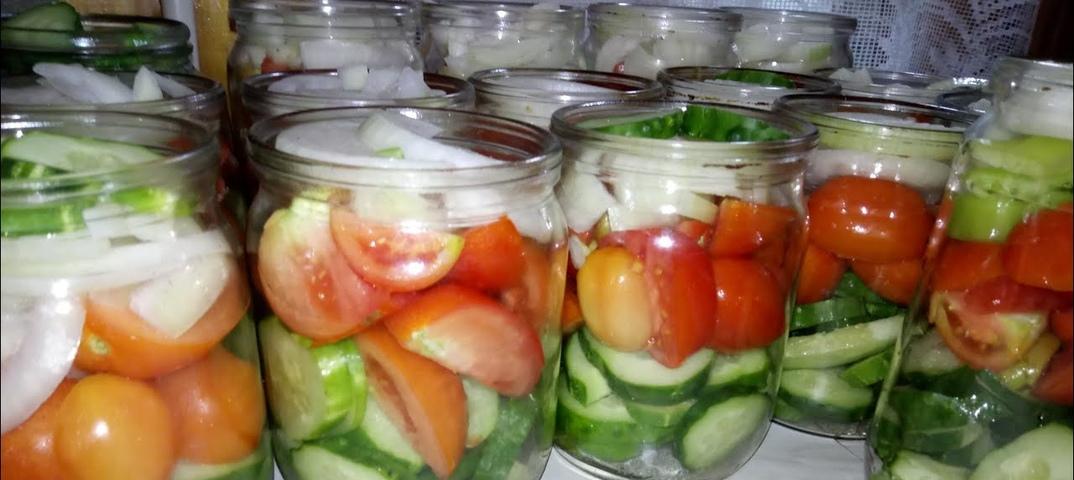 картинки салатов из помидор и огурцов на зиму