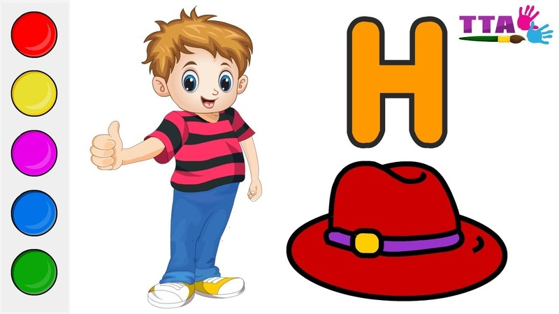 Learn Alphabet H for Hat coloring and drawing Learn Colors for kids | Top Toy Art