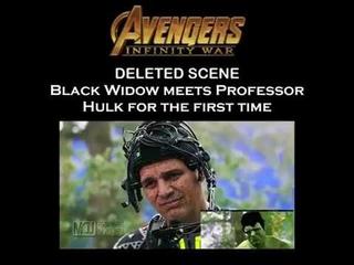 Black Widow Meets Professor Hulk In Infinity War DELETED SCENE