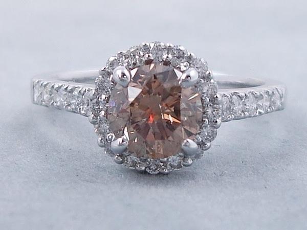1.84 ctw Round Brilliant Cut Diamond Engagement Ring Natural Chocolate - BigDiamondsUSA