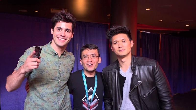 Harry Shum Jr and Matthew Daddario Malec of Shadowhunters at WonderCon 2016