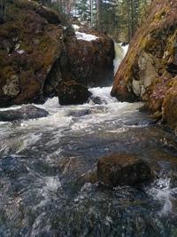 Водопад Каменные губы, Полевской.