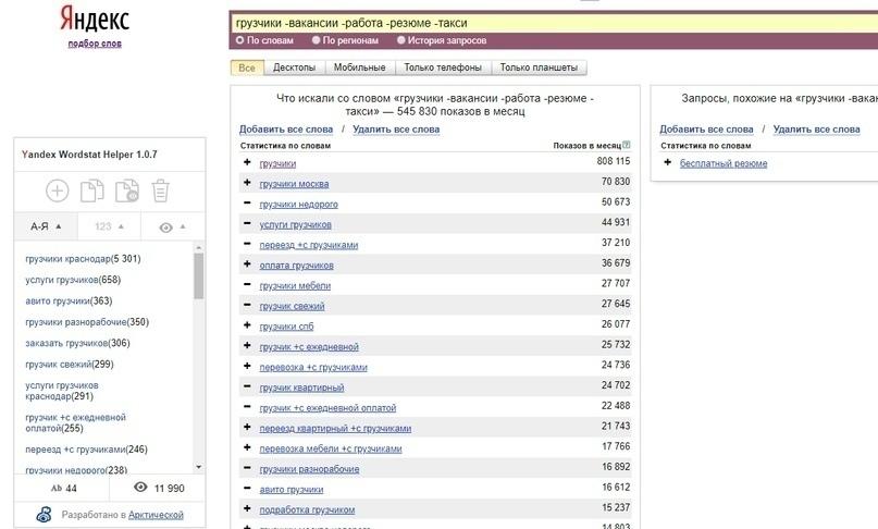Полезные сервисы для работы с семантикой, анализа конкурентов и проверки ссылок, изображение №7