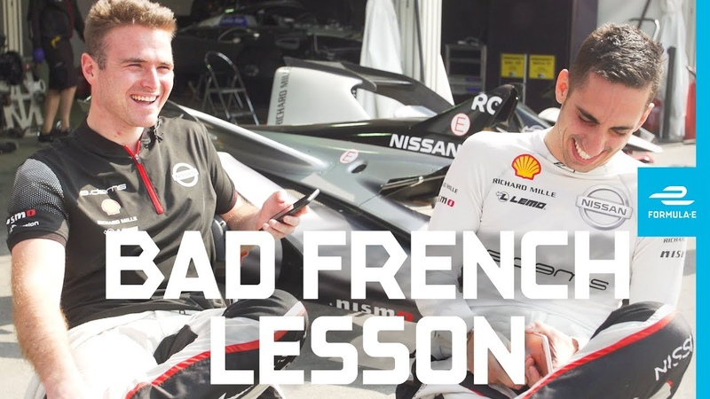 How to speak French with Sebastien Buemi and Oliver Rowland ABB FIA Formula E Championship