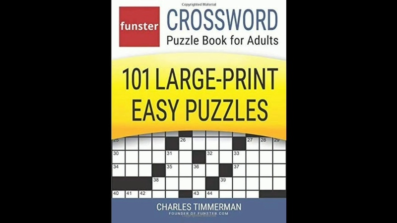 Funster Crossword Puzzle Book for Adults