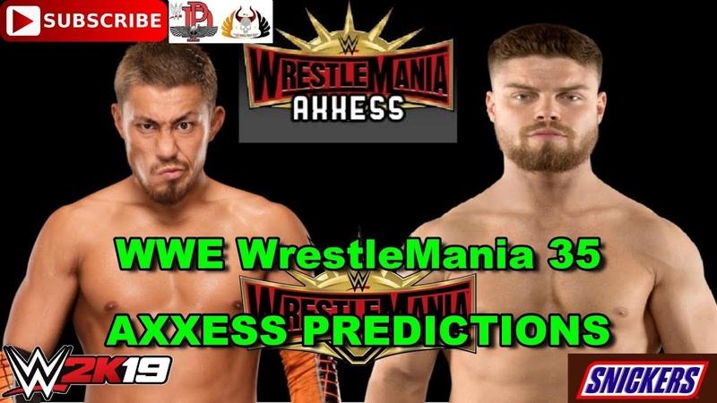 WWE WrestleMania 35 Axxess Cruiserweights Collide Akira Tozawa vs Jordan Devlin Predictions WWE 2K19
