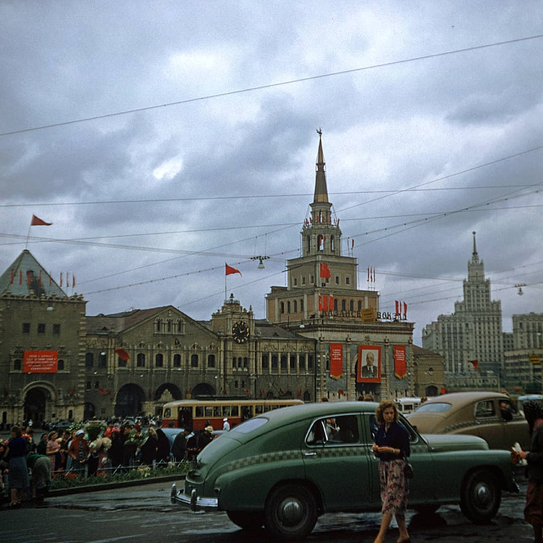 Казанский вокзал, Москва, 1958 год.