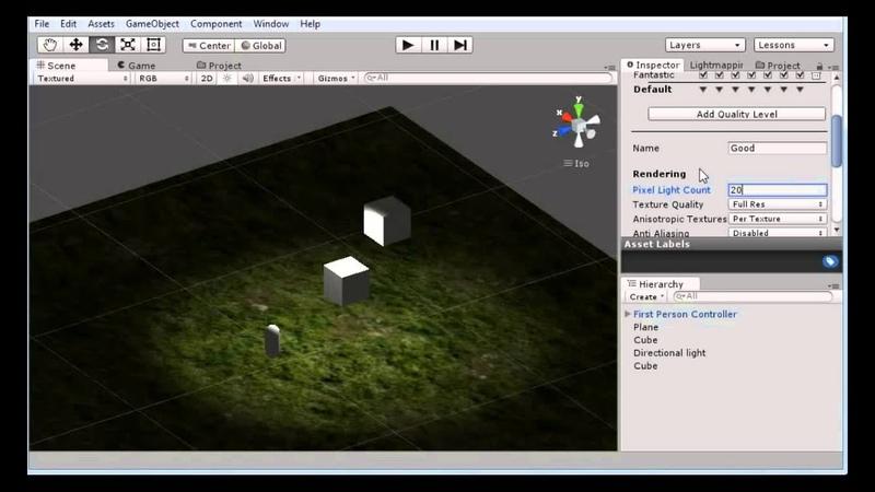 Разработка игр (Урок 7 - Освещение и тени в Unity3d)