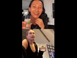 Hailey and Alexander Wang Instagram live stream