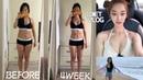 [옥건 VLOG] 한달 58kg 👉🏻49kg 다이어트 브이로그 / 필라테스 강사 다이어트 브이로그 4 (11자 복근 만들기/다이어트 운동/식단)