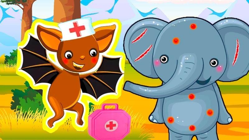 Мультик про Доктора Летучая Мышь.Спасаем Зверят.Игры в Доктора.Мультик Игра для Детей и Малышей