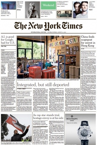 The New York Times International - 03.08.2019 - 04