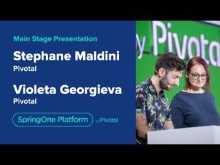 Stephane maldini and violeta georgieva at springone platform 2019