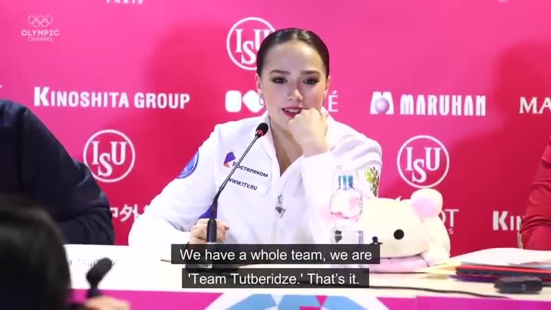 Olympic Channel - Alena Kostornaia and Alina Zagitova pay tribute to 'Team Tutberidze'