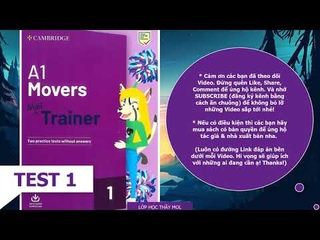 A1 Movers Mini Trainer 1 TEST 1 - Listening TEST 1 - Cambridge English