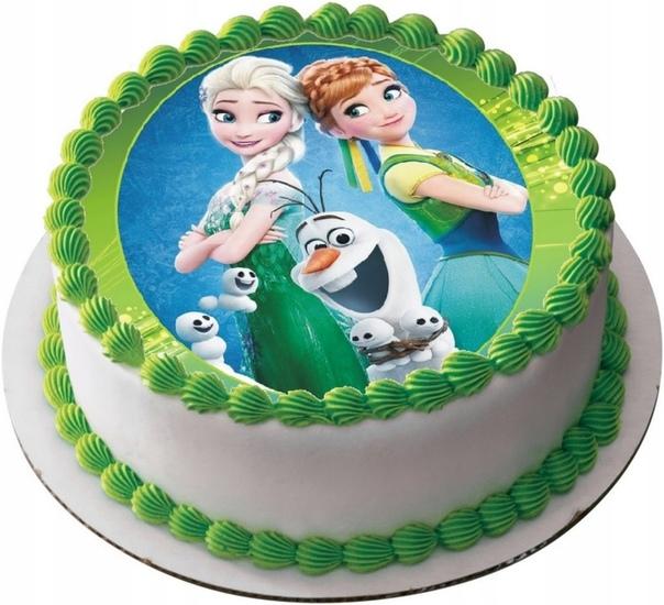 торт с вафельными картинками
