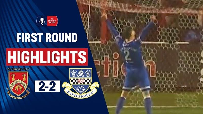 Late Rendell Goal Gives Eastleigh a Lifeline Stourbridge 2 2 Eastleigh Emirates FA Cup 19 20