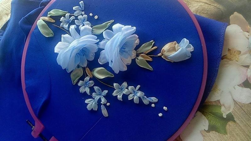 119-D.I.Y Ribbon embroidery /Hướng dẫn thêu ruy băng trên áo