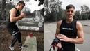 Уличная тренировка боксера / Тренировка скорости ног