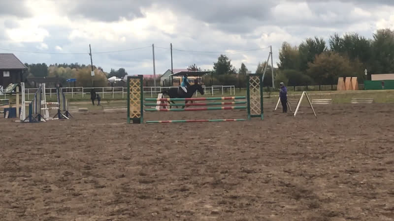Афанасьева Карина и Забег 100 см