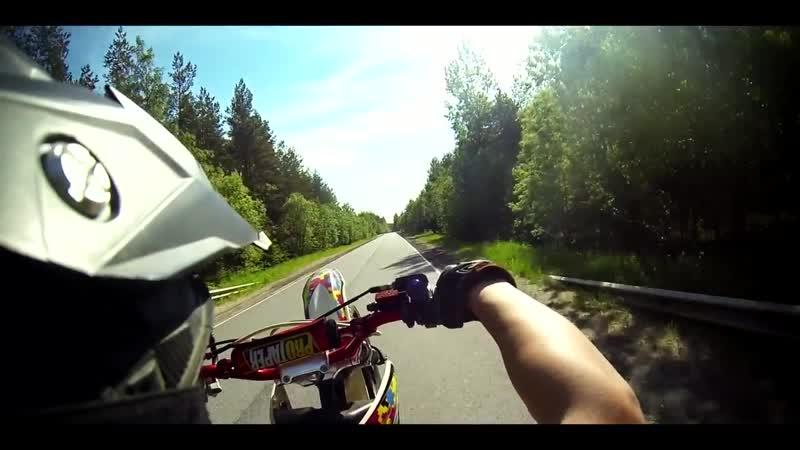 Стант на питбайке kayo 125 _ wheelie pit bike