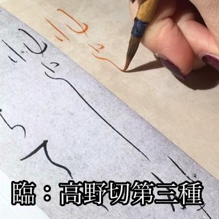"""書道家 向井みりあ / Calligrapher Miria on Instagram: """"🌸 . 『日本名筆選5 高野切第三種(二玄社)』 173891"""