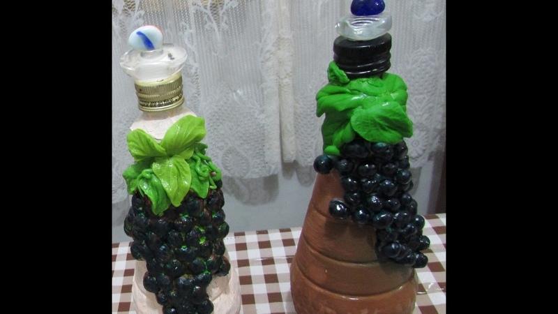 Artesanato Reciclando garrafa de vinagre