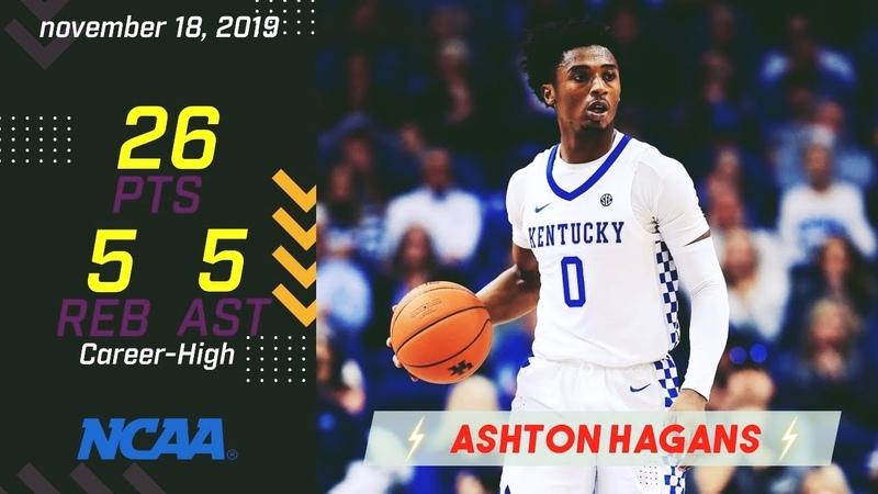 Ashton Hagans Career High 26 PTS vs Utah Valley 11 18 2019