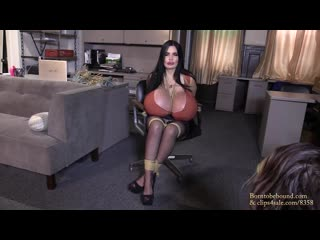 [BornToBeBound] Foxy Menagerie Verre - I'm tired of doing your work! (Big Fake Tits, Bimbo, Bondage, Latex, MILF, Saline)