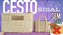 DIY - CESTO ORGANIZADOR COM CORDA E SIZAL | Sem deixar a caixa de papelão dentro