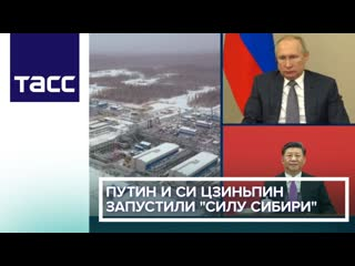 Путин и Си Цзиньпин запустили 'Силу Сибири'