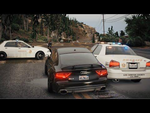 GTA 5 8K PC - 800 HP AUDI RS7 Intense POLICE CHASE! 2020 Next-Gen Graphics   GeForce RTX™ 2080 Ti