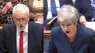 Theresa May fires back at Corbyn on shock Brexit vote tonight 'We won't give Labour control!'