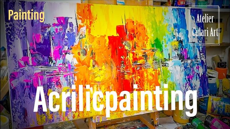Abstrakte Malerei | Acrylic | Abstract Painting | Speed Painting | Acrylic Painting Tutorial