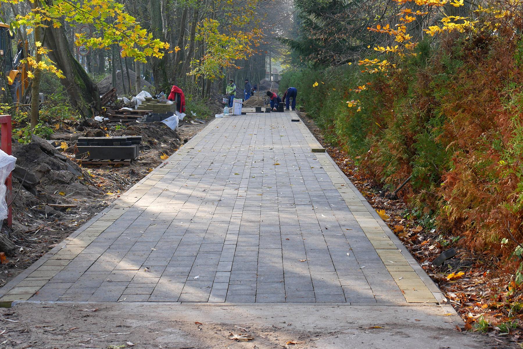 Строительство велодорожки 8 ноября 2019